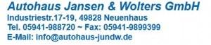 firefox 09.09.2016 , 10:03:27 http://www.autohaus-jundw.de/ Autohaus Jansen & Wolters in Neuenhaus. Perfekter Service für alle Marken. Autoglas Spezialist - Mozilla Firefox